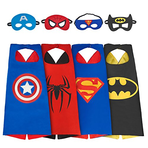 amasky-dress-up-costume-set-of-superhero-4-satin-capes-with-felt-masks-for-kids