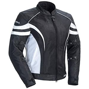 Cortech LRX Air 2.0 Women's Textile On-Road Motorcycle Jacket - Black/White / Plus Medium