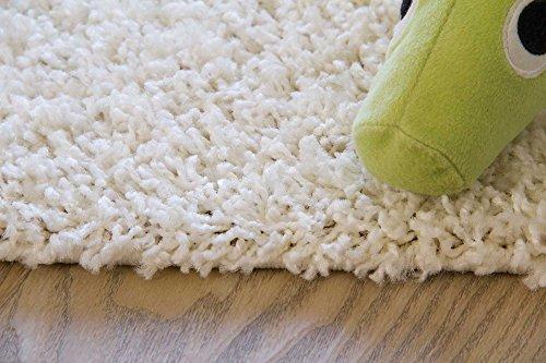 Shaggy Hochflor Teppich Happy Langflor Teppich in Creme / Beige mit Öko-Tex Siegel, Größe: 200x290 cm