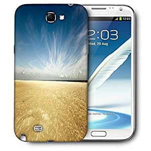 Snoogg Golden Sand Beach Printed Protective Phone Back Case Cover For Samsung Galaxy Note 2 / Note II