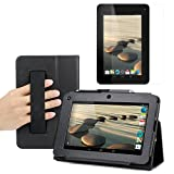 BIRUGEAR SlimBook Faux Leather HandStrap Stand Case with Screen Protector for Acer Iconia B1-710 - 7 inch Android Tablet