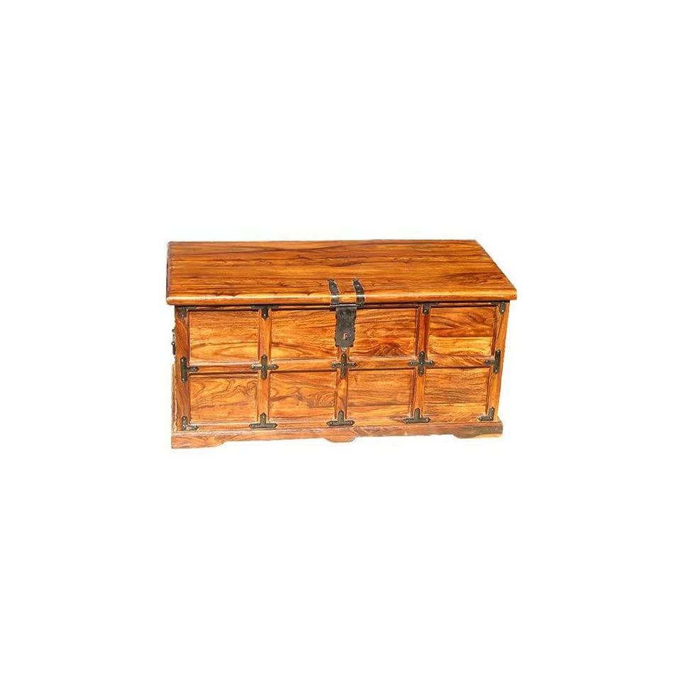 wood storage chest box trunk sofa coffee table furniture