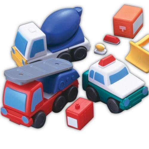 Magna-Tiles Working Trucks