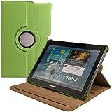 kwmobile Hülle 360° für Samsung Galaxy Tab 2 10.1 Case mit Ständer - Schutzhülle Tablet Tasche mit Standfunktion in Grün