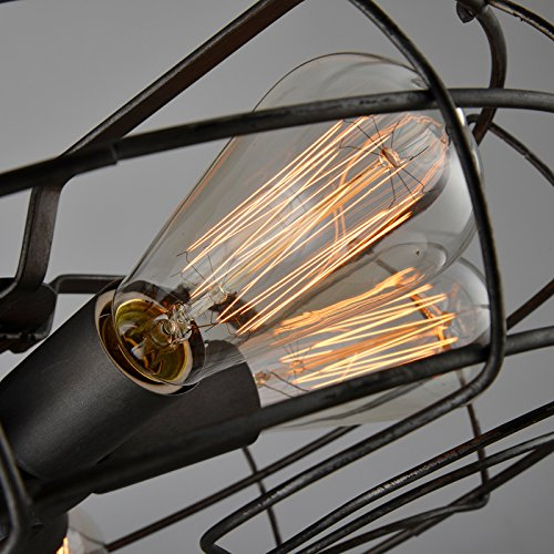 Electro_BP; Vintage Style Metal Art Ceiling Light Max 300W With 5 Lights Painted Finish 3