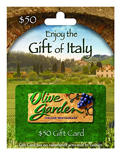 Olive Garden 50 Gift Card Arts Entertainment Party Celebration Giving Cards Certificates