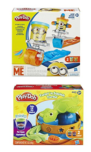 Play-Doh Featuring Despicable Me Minions Stamp and Roll Set Plus Play-Doh Twist n Squish Turtle Playset (Bundle) (Play Dough Despicable Me compare prices)