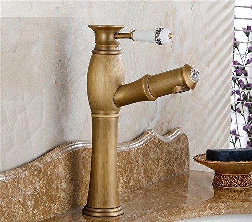 Antique può completamente in rame rubinetto lavabo Shampoo per lavabo con acqua calda e fredda rubinetti ON STAGE