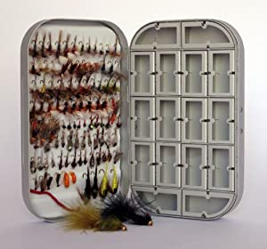 Fly Box + 100 Assorted Fly Fishing Fly Package by Barnsley Fly Co.