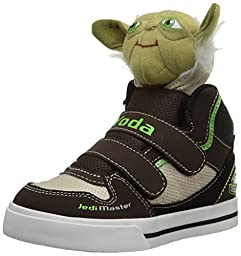 Skechers Kids Star Wars Yoda Plush Double Strap Sneaker (Toddler), Chocolate/Taupe, 9 M US Toddler