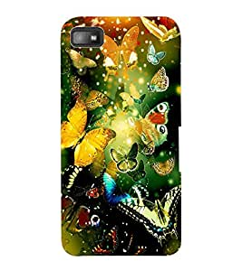ColourCraft Beautiful Butterflies Design Back Case Cover for BLACKBERRY Z10
