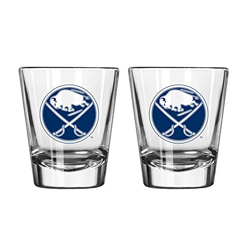 NHL Buffalo Sabres Game Day Shot Glass, 2-ounce, 2-Pack