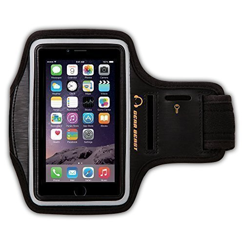 Gear Beast della palestra di sport Esecuzione bracciale con portachiavi e riflettente fascia di sicurezza per iPhone 6S, 6, Galaxy S7, S6, S6 bordo, S5, Motorola Moto G, Moto E, Moto X, Droid Maxx, Droid Turbo, Nexus 5X Altro