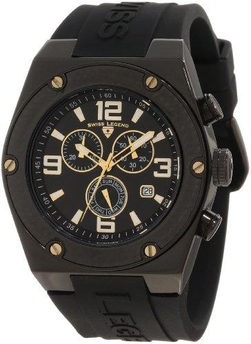 Swiss Legend Men's 30025-BB-01-GA Throttle Chronograph Black Dial Watch