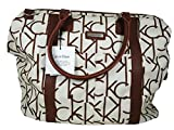 Calvin Klein Large Luggage Tote Almond and Brown