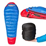 Thermodown 15 Degree Down Mummy Sleeping Bag - Ultralight Cold Weather, 3 Season Bag - Perfect for Backcountry Camping and Backpacking (Regular)