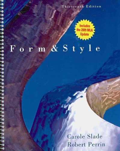 Form & Style: Research Papers, Reports, Theses:...