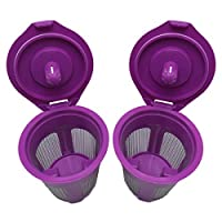 New Replacement Reusable Coffee Filter for Keurig My K-cup 2.0, K200, K300, K400, K500 Series and All 1.0 Brewers (2)