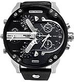 Diesel - DZ7313 - Montre Homme - Quartz Chronographe - Bracelet Cuir Noir