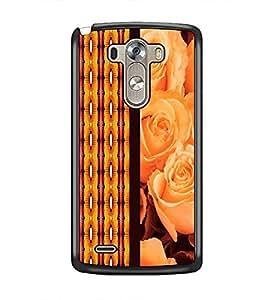 PrintDhaba Rose D-2663 Back Case Cover for LG G3 (Multi-Coloured)