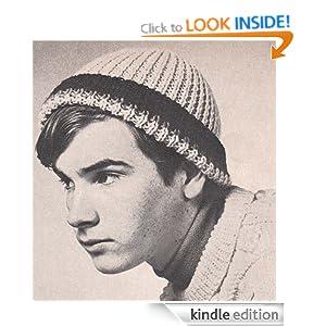 Ski Cap Hat Beanie Vintage Knit Knitting Pattern EBook Download
