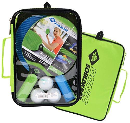 Donic-Schildkröt TT-Set Alltec Hobby im Carrybag, (2x Schläger +3 Bälle), cyan-green, 788648
