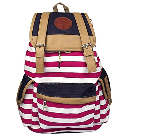Santimon Unisex Fashionable Canvas Backpack School Bag Super Cute
