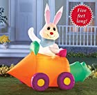 Easter Bunny Inflatable Light Up Yard Decoration