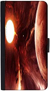 Snoogg Solar Eclipse Designer Protective Phone Flip Back Case Cover For Xiaomi Redmi Note 3
