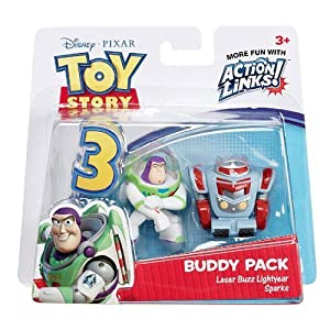 Toy Story 3 Action Links 2-Figure Buddy Pack - LASER BUZZ LIGHTYEAR
