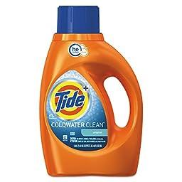 Tide PGC 87352CT Coldwater Liquid Laundry Detergent, Fresh Scent, 46 oz. Bottle (Pack of 6)