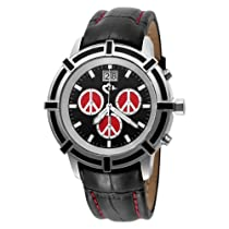 Love Peace and Hope Midsize WA03 Black and Red Time for Peace Watch