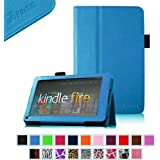 "Fintie Kindle Fire 1st Generation Case - Slim Fit Folio Stand Leather Cover for for Amazon Kindle Fire 7"" Tablet (will only fit Original Kindle Fire 1st Gen - 2011 release, no rear camera), Blue"