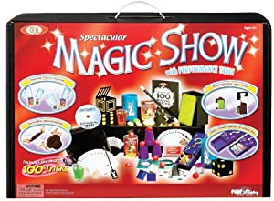 100-Trick Spectacular Magic Show Suitcase with Instructional DVD and Free Deck of Standard Playing Cards