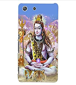 ColourCraft Lord Shiva Design Back Case Cover for SONY XPERIA M5 E5603 / E5606 / E5653