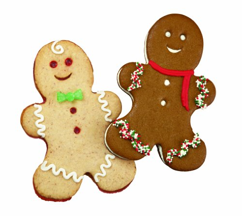 Wilton 2308-0332 Holiday Giant Gingerbread Boy Cookie Cutter, Set of 2