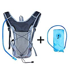 Hydration Pack Water Bag Backpack Breathable Hydration Backpack With 2L Water Hydration Bladder For Camping Hiking Running Biking Climbing Cycling