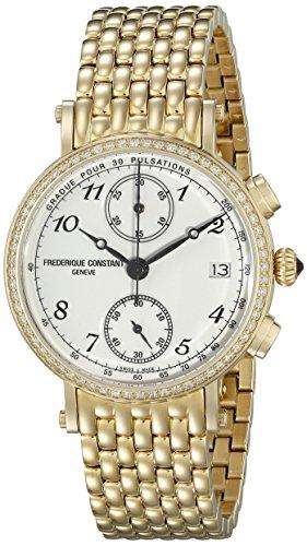 Frederique Constant Classics Women's Diamonds 34mm Chronograph Watch FC291A2RD5B