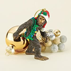 #!Cheap Bigfoot the Holiday Yeti Holiday Ornament