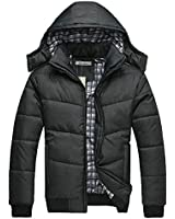 Cocobla Mens Warm Hoodie Hooded Coat Classic Winter Outwear Down Jacket