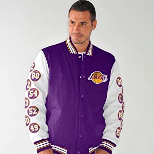 Los Angeles Lakers NBA Champions Box and 1 Commemorative Canvas Jacket by G-III Sports