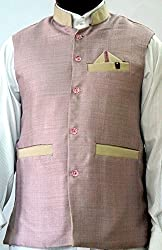 Nuvo Rise Export Men's Nehru Jacket_123456_Light Pink_L