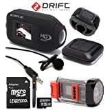Drift HD Full 1080p High Definition Wearable Helmet Action Camera + 16GB + Wireless Remote + External Mic + Waterproof Case Bundle