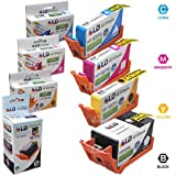 LD Remanufactured Set of 4 Replacement Inkjet Cartridges for Hewlett Packard (HP) 920XL: 1 Black CD975AN, Cyan CD972AN, Magenta CD973AN, and Yellow CD974AN - Shows Accurate Ink Levels