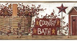 Country Bath Wallpaper Border