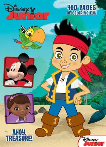Disney Junior Jake & the Never Land Pirates: Ahoy, Treasure!: 400 Pages of Coloring Fun - 1