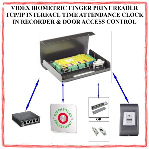 Tc306- Videx Biometric Finger Print Reader Tcp/Ip Interface Time/Attendance Clock In Recorder & Door Access Control System