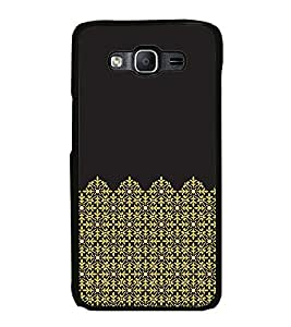 Fuson Premium 2D Back Case Cover Black pattern With Brown Background Degined For Samsung Galaxy On5::Samsung Galaxy On5 G550FY
