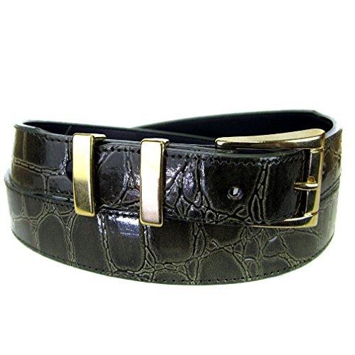 BLT-A-103-32 - Dark Olive Alligator Skin Bonded Leather Belt