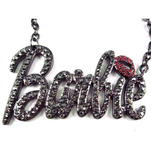 NEW NICKI MINAJ BARBIE Pendant w/18 Chain Black Lg